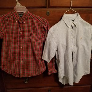 Boys' size 8/10 Ralph Lauren button down shirts